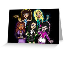 Monster High Girls as Humans Greeting Card