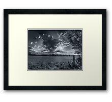 Clouds & Sun (Flare) Framed Print