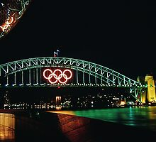 olympic rings on sydney harbour bridge by jansant