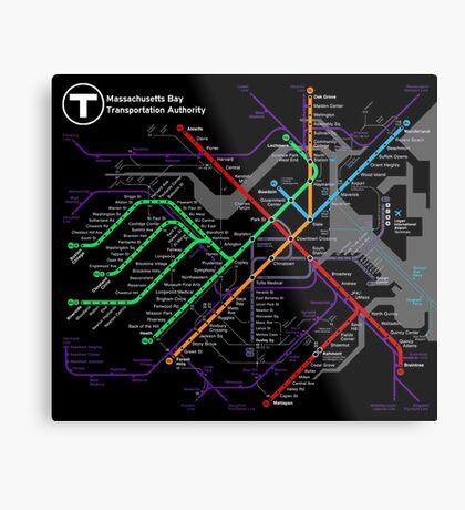 MBTA Boston Subway - The T Metal Print
