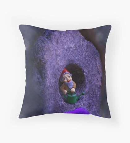 gnomes work is never done Throw Pillow