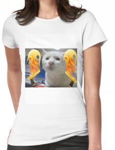 Atomic Cat Womens Fitted T-Shirt