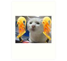 Atomic Cat Art Print