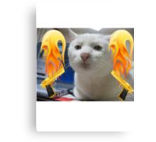 Atomic Cat Canvas Print