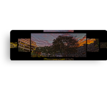 Sunset at the Cultural Center Canvas Print