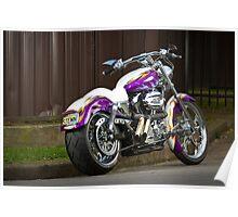 Robyn's Custom Harley Davidson Sportster Poster