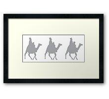 Three Wise Men on Camels Framed Print