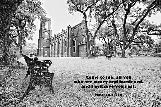 Come to me all you who are weary and burdened . . . by Bonnie T.  Barry