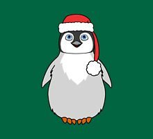 Christmas Penguin with Red Santa Hat Unisex T-Shirt