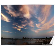 Dusk Skyscape over the Ottawa River Poster