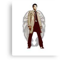 Winged Castiel Canvas Print