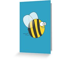 Cool & Crazy Funny Bee / Bumble Bee (Sweet & Cute) Greeting Card