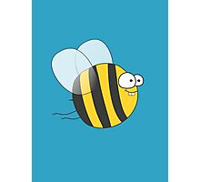 Cool & Crazy Funny Bee / Bumble Bee (Sweet & Cute) Photographic Print