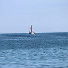Sailboat on a clear day by theartguy