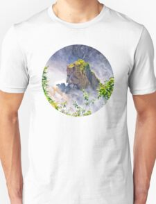 Rocks emerging from a raging waterfall T-Shirt