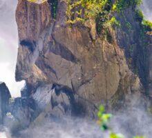 Rocks emerging from a raging waterfall Sticker