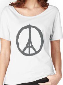 Peace for Paris - gray - paix pour Paris - gris - Pray Women's Relaxed Fit T-Shirt