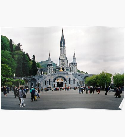 Our Lady Of Lourdes Basilica Of The Rosary. France. Poster