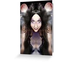 She is the creator of her own universe Greeting Card