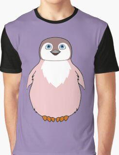 Light Pink Baby Penguin Graphic T-Shirt