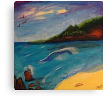 Lonely Seashore Canvas Print