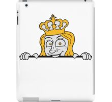 Prince Valiant crown royal blond laughing happy funny cartoon frame border iPad Case/Skin