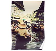 Floating Markets, Thailand Poster