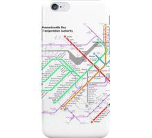 MBTA Boston Subway - The T (light background) iPhone Case/Skin