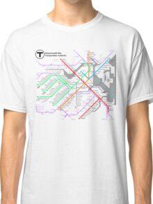 MBTA Boston Subway - The T (light background) Classic T-Shirt