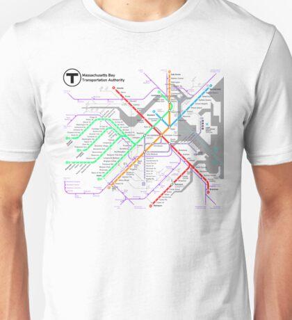 MBTA Boston Subway - The T (light background) Unisex T-Shirt