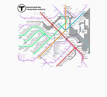 MBTA Boston Subway - The T (light background) Unisex T-Shirt
