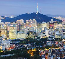 Seoul at night by StavvioD
