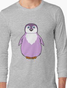 Light Purple Baby Penguin Long Sleeve T-Shirt