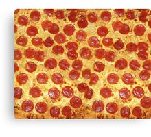Delicious Pepperoni / Salami Pizza - Pattern with extra cheese Canvas Print