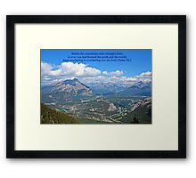 Before the Mountains Psalm 90:2 Framed Print