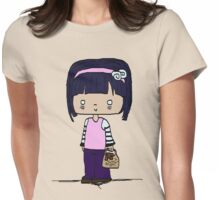 Cutie Pie With a Bear Womens Fitted T-Shirt