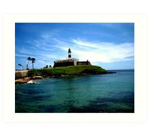 Barra Lighthouse  Art Print