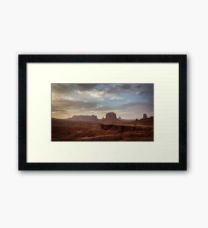 John Ford's Point, Monument Valley Framed Print