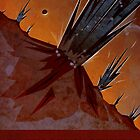 Cryptic Region Geysers - Mars - Travel Poster by Ron Guyatt