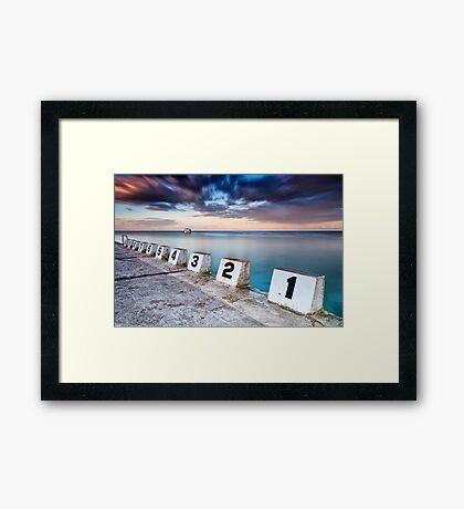 Merewether Ocean Baths - The Starting Blocks  Framed Print