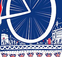 2012 London Eye A3 print by Peter Gander