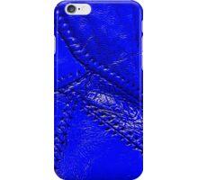 "Cobalt blue ""leather"" look design iPhone Case/Skin"