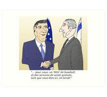 Mitt et Bibi en caricature des news options binaire Art Print
