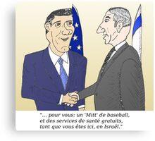 Mitt et Bibi en caricature des news options binaire Canvas Print