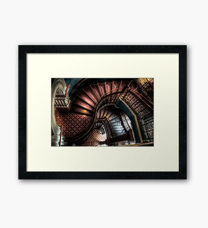 QVB Stairs Framed Print