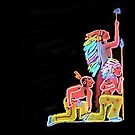 Neon Native Americans by RickDavis