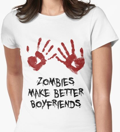 Zombie Boyfriend Womens Fitted T-Shirt