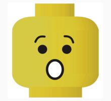 Shocked Minifig Head by Customize My Minifig by ChilleeW