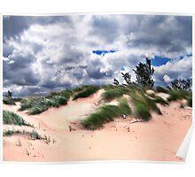 Wind Swept Sand Dunes Poster