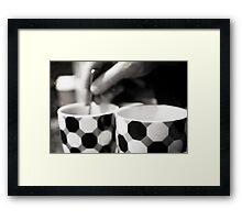 Day 3 - Monday Morning - Coffee stirring Framed Print